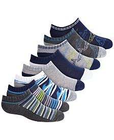 Planet Sox Toddler, Little & Big Boys 8-Pk. No-Show Sharks Socks