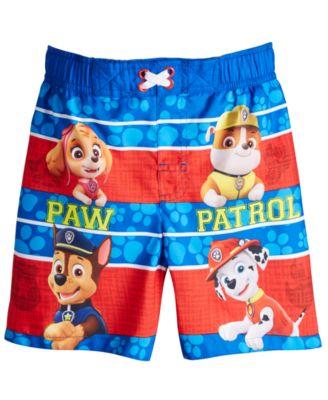 Toddler Boys Paw Patrol Blue Swim Short Trunk