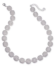 "Charter Club Silver-Tone Filigree Ball All-Around Necklace, 18"" + 2"" extender"