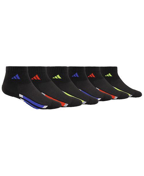 adidas Little & Big Boys 6-Pack Logo Quarter Socks