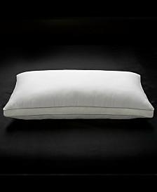 Soft Plush Luxurious 100% Cotton Mesh Gusseted Gel Fiber Stomach Sleeper Pillow - Queen