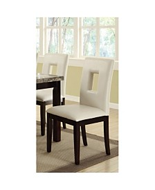 Benzara Classic Pine Wood Dining Chairs, Set of 2