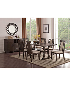 Benzara Rubber Wooden Dining Chair with Cushion Back And Seat, Set of 2