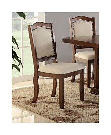 Benzara Contemporary Rubber Wood Dining Chair, Set of 2