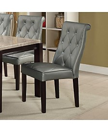 Benzara Transitional Faux Leather Dining Chair, Set of 2
