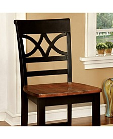 Cottage Counter Height Chair with Wooden Seat, Set of 2