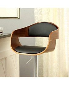 Contemporary Style Bar Chair with & Bent Wood