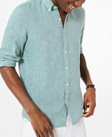 Michael Kors Men's Cross-Dyed Linen Shirt