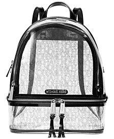 MICHAEL Michael Kors Rhea Clear Logo Backpack