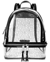 1124716048e7c9 MICHAEL Michael Kors Rhea Clear Logo Backpack