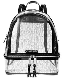 MICHAEL Michael Kors Rhea Clear Logo Backpack