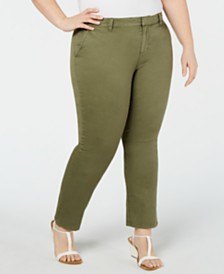 Style & Co Plus Size Mid-Rise Chino Pants, Created for Macy's