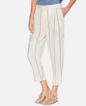 Vince Camuto Pants STRIPED CUFFED PANTS