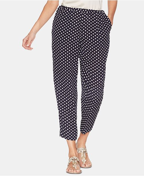 Vince Camuto Printed Cropped Pants