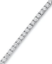Sterling Silver Bracelet, Swarovski Zirconia Tennis Bracelet (20-1/4 ct. t.w.)