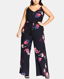 City Chic Plus Size Spring Lotus Jumpsuit