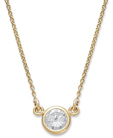 Bezel-Set Diamond Pendant Necklace (1/5 ct. t.w.) in 14K Gold or White Gold