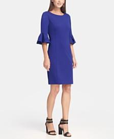 DKNY Bell Sleeve Sheath Dress, Created for Macy's