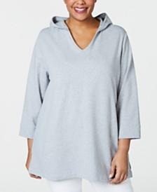 Karen Scott Plus Size Hooded Top, Created for Macy's