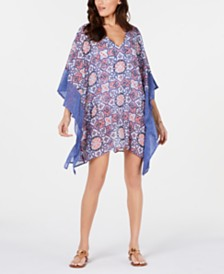 Michael Michael Kors Printed Sea Coral Tile Cover-Up