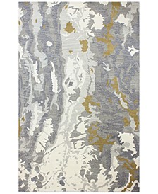 """Downtown HG353 Ivory/Gray 5'6"""" x 8'6"""" Area Rug"""