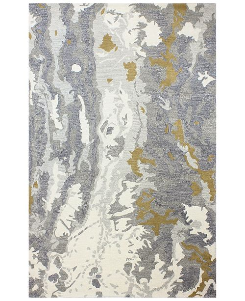 """BB Rugs Downtown HG353 Ivory/Gray 2'6"""" x 8' Runner Area Rug"""