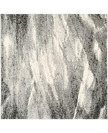 Safavieh Retro Gray and Ivory 8' x 8' Square Area Rug