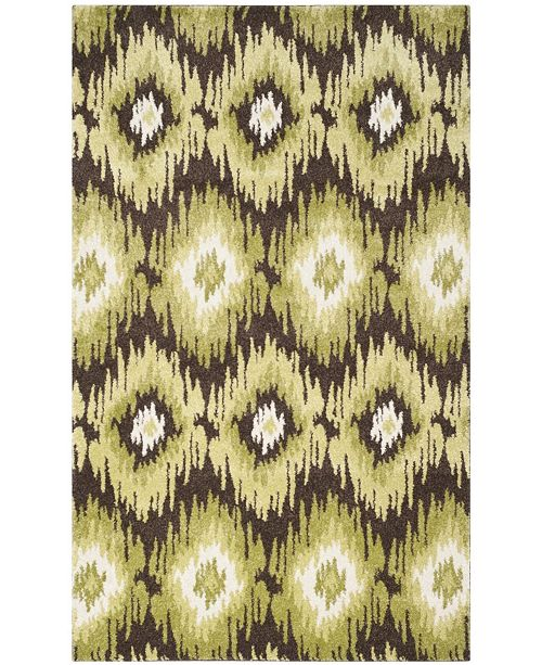 Safavieh Retro Dark Brown and Green 8' x 10' Area Rug