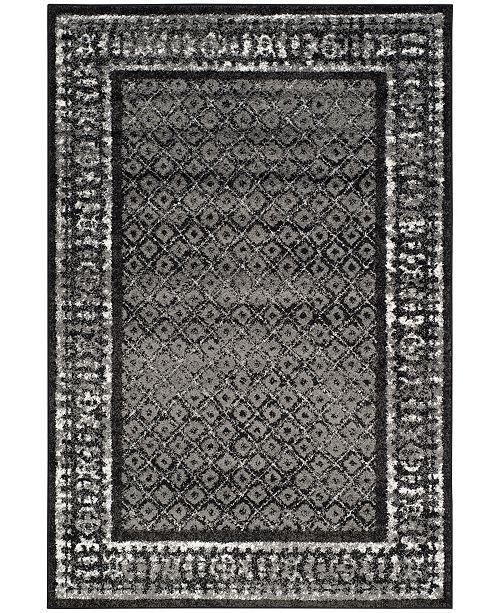 Safavieh Adirondack Black and Silver 4' x 6' Area Rug