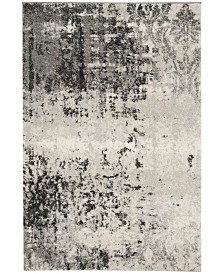 Safavieh Retro Light Gray and Gray 6' x 9' Area Rug