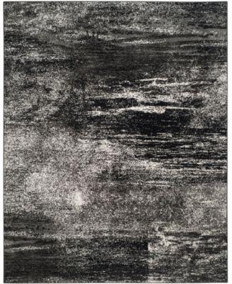 Adirondack Silver and Black 8' x 10' Area Rug
