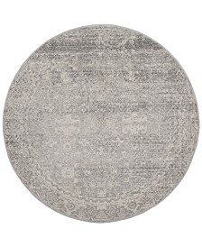 "Safavieh Evoke Silver and Ivory 6'7"" x 6'7"" Round Area Rug"