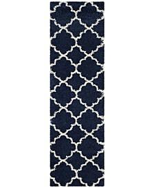 """Hudson Navy and Ivory 2'3"""" x 8' Runner Area Rug"""