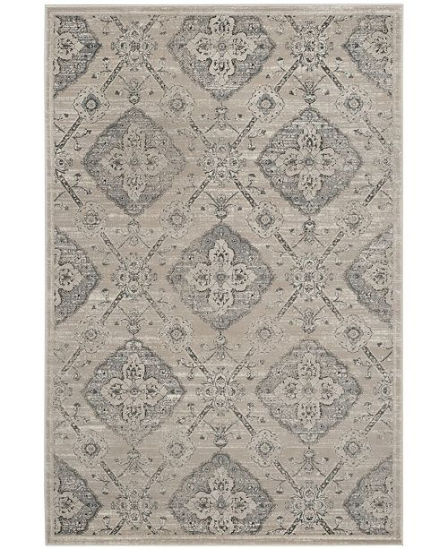 "Safavieh Carnegie Taupe and Light Blue 6'7"" x 9'2"" Area Rug"