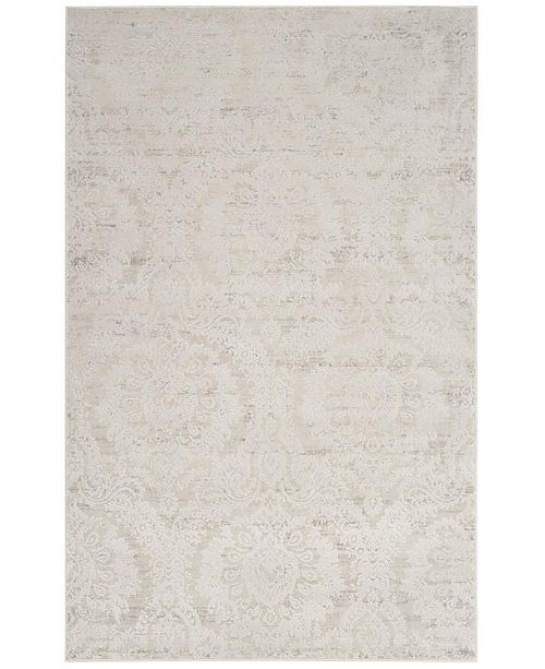 Safavieh Princeton Silver and Beige 9' x 12' Area Rug