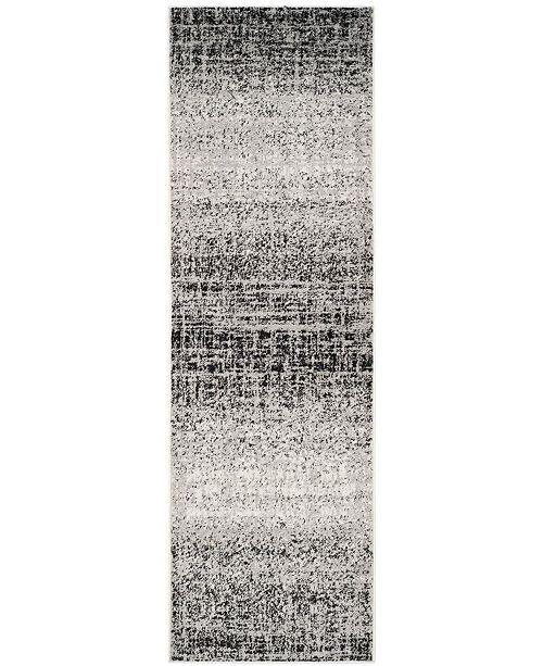 "Safavieh Adirondack Silver and Black 2'6"" x 10' Runner Area Rug"