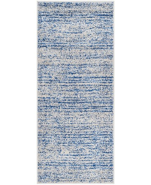 "Safavieh Adirondack Blue and Silver 2'6"" x 16' Runner Area Rug"