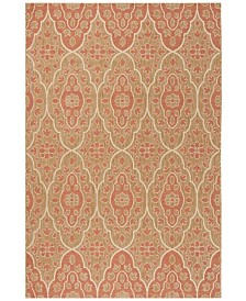 "Martha Stewart Collection Natural and Beige 4' x 5'7"" Area Rug, Created for Macy's"