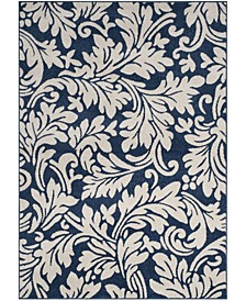 "Amherst Navy and Ivory 2'3"" x 7' Runner Area Rug"