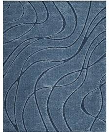 Shag Light Blue and Blue 8' x 10' Area Rug