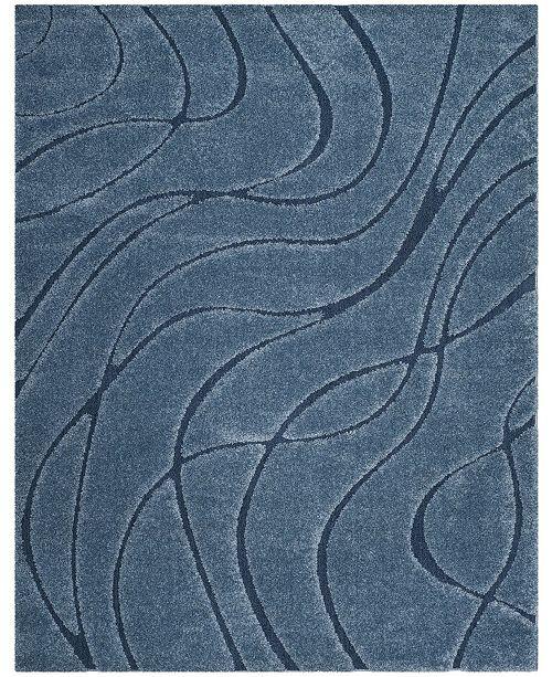 Safavieh Shag Light Blue and Blue 8' x 10' Area Rug