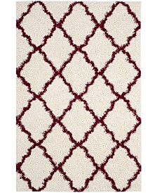 "Dallas Ivory and Red 5'1"" x 7'6"" Area Rug"
