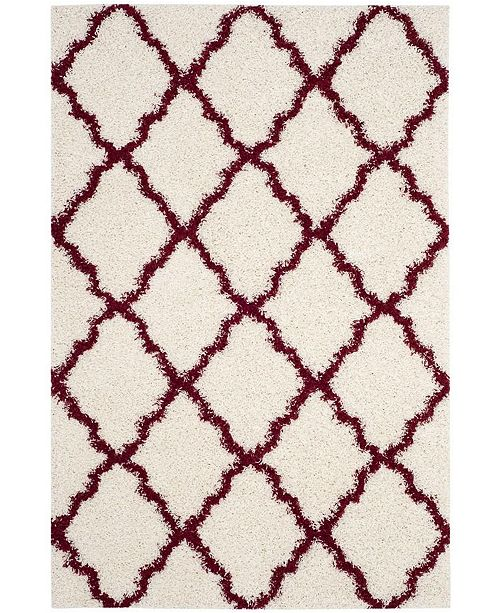 "Safavieh Dallas Ivory and Red 5'1"" x 7'6"" Area Rug"