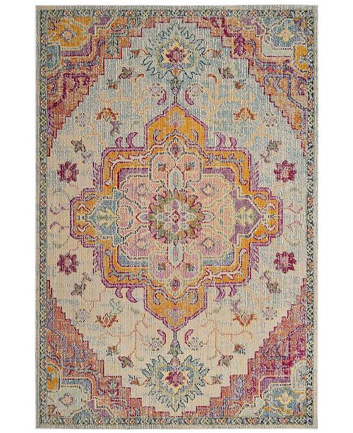 Safavieh Crystal Light Blue and Fuchsia 4' x 6' Area Rug