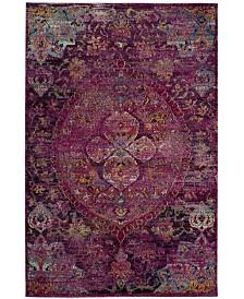Safavieh Crystal Fuchsia and Purple 4' x 6' Area Rug