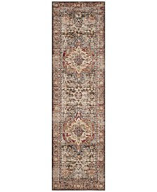 "Safavieh Bijar Brown and Rust 2'3"" x 10' Runner Area Rug"