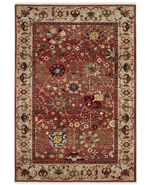 Safavieh Kashan Red and Beige 9' x 12' Area Rug