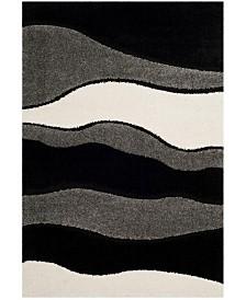 Safavieh Shag Gray and Black 6' x 9' Area Rug