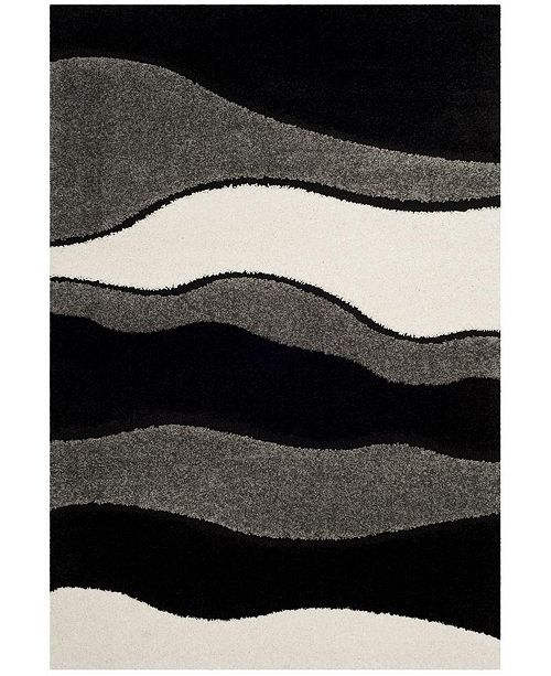 Safavieh Shag Gray and Black 6' x 9' Area Rug
