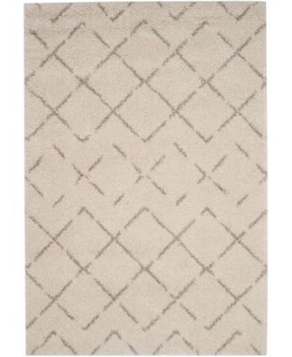 Arizona Shag Ivory and Beige 4' x 6' Area Rug